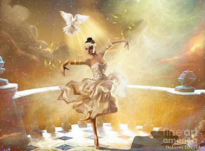 Holy Digital Art - Golden Moments by Dolores Develde