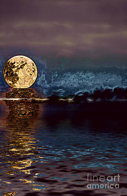 Photograph - Golden Moon by Elaine Hunter
