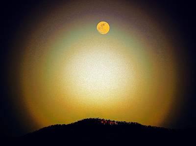 Golden Moon Art Print by Joseph Frank Baraba