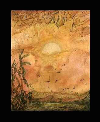 Painting - Golden Morn by Anne-D Mejaki - Art About You productions