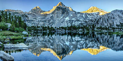 Kings Canyon Photograph - Golden Morning At Middle Rae Lake by Matt Hammerstein