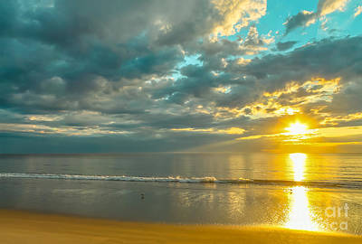 Beach Photograph - Golden Morning by Claudia M Photography