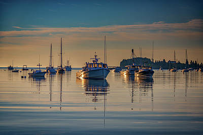 New England Village Photograph - Golden Morning In Tenants Harbor by Rick Berk