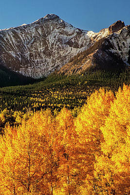 Mountain Royalty-Free and Rights-Managed Images - Golden Mountain Scene by Andrew Soundarajan