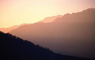 Golden Mountains Art Print