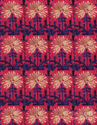 Photograph - Golden N Blue Flower Patterns See On Pod Posters Tshirts Shower Curtains Duvet Covers Throw Pillows  by Navin Joshi
