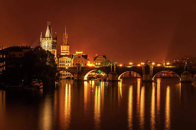 Photograph - Golden Night In Prague by Jenny Rainbow