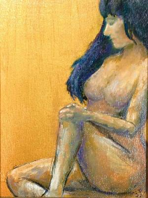 Painting - Golden Nude by Sally Fraser