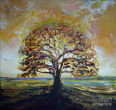 Golden Oak Art Print by Michele Hollister - for Nancy Asbell