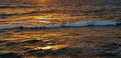 Photograph - Golden Ocean by Pamela Walton