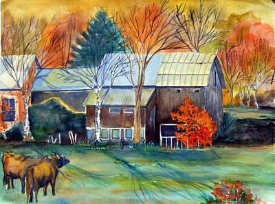 Golden Ohio Art Print by Mindy Newman