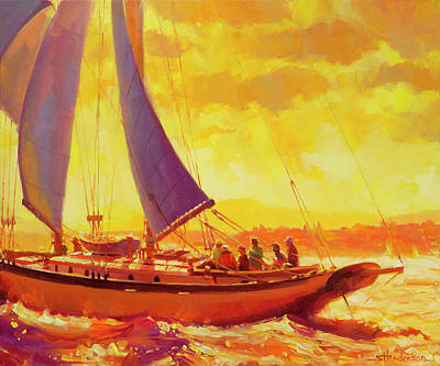 Seattle Painting - Golden Opportunity by Steve Henderson