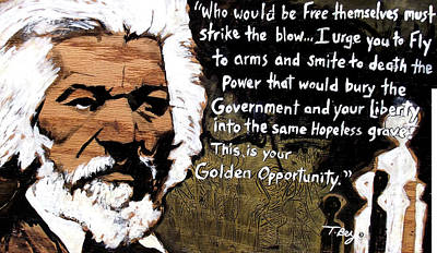 Abolitionist Mixed Media - Golden Opportunity by Tamerlane Bey