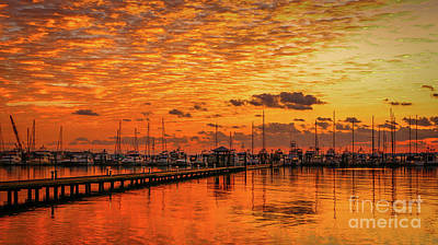 Golden Orange Sunrise Art Print