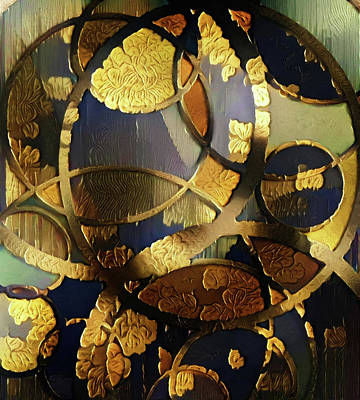 Digital Art - Golden Ornament by Bruce Rolff