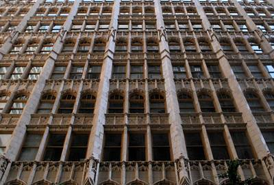 Photograph - Golden Ornate Building Facade by Matt Harang