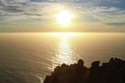 Photograph - Golden Pacific Sunset 1 by Bonnie Follett
