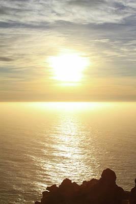 Photograph - Golden Pacific Sunset 2 by Bonnie Follett