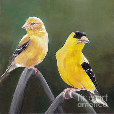 Painting - Golden Pair by Charlotte Yealey