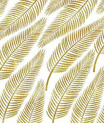 Golden Palm Art Print by Uma Gokhale