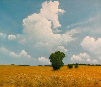 Painting - Golden Pasture by Boris Garibyan