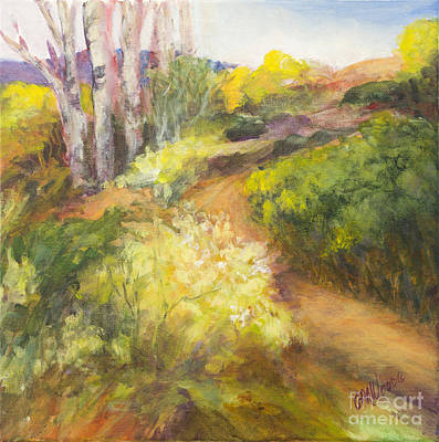 Painting - Golden Pathway by Glory Wood