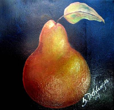 Painting - Golden Pear by Susan Dehlinger