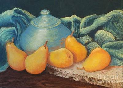 Painting - Golden Pears by Kathy Staicer