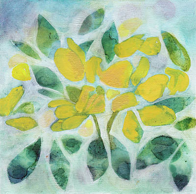 Painting - Golden Pea In Bloom by Julie Maas