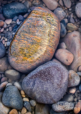 Photograph - Golden Pebble by Alexander Kunz