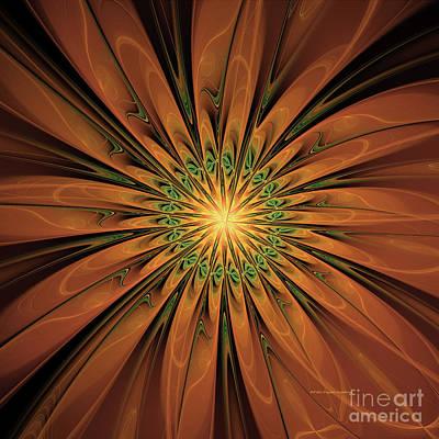Digital Art - Golden Petals by Deborah Benoit