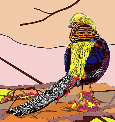 Painting - Golden Pheasant by Jamie Downs