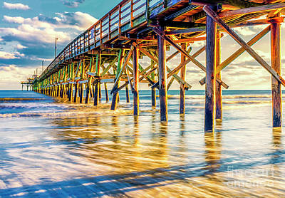 Photograph - Golden Pier Sunset by David Smith