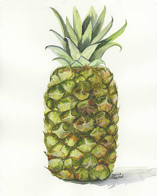 Painting - Golden Pineapple by Darice Machel McGuire