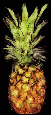 Golden Pineapple Art Print by Paul Tokarski