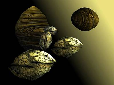 Digital Art - Golden Planet by Ricky Kendall