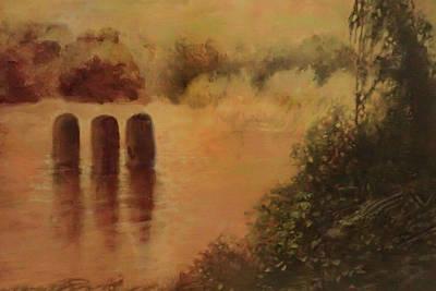 Digital Art - Golden Pond by Ed Meredith