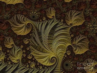 Digital Art - Golden Ponytails by Elizabeth McTaggart