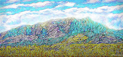 Digital Art - Golden Purple Mountain Vista - Boulder County Colorado by Joel Bruce Wallach