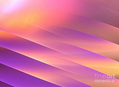 Digital Art - Golden Purple Rays by Kim Sy Ok