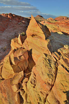 Not Your Everyday Rainbow - Golden Pyramid of Sandstone in Valley of Fire by Ray Mathis