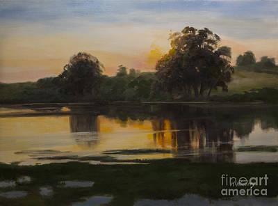Eucalyptus Painting - Golden Quiet by Karen Winters