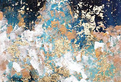 Mixed Media - Golden Rain by Davina Nicholas