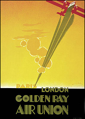 Photograph - Golden Ray 1929 by E Maurus