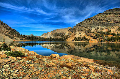 Photograph - Golden Reflections At Crypt Lake by Adam Jewell