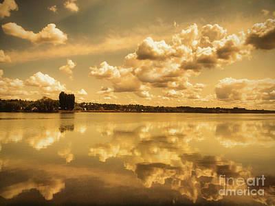 Photograph - Golden Reflections At Moses Lake by Tara Turner
