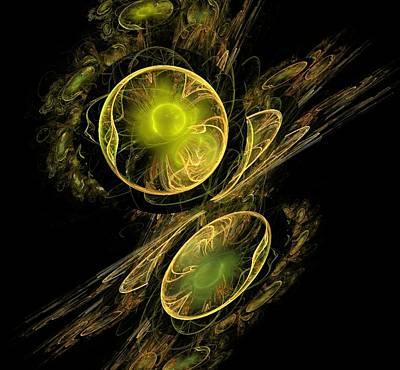 Digital Art - Golden Reflections by Nancy Pauling
