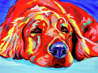 Dawgart Painting - Golden Retriever - Ranger by Alicia VanNoy Call