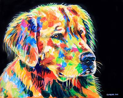 Painting - Golden Retriever A Coat Of Many Colors by Karl Wagner