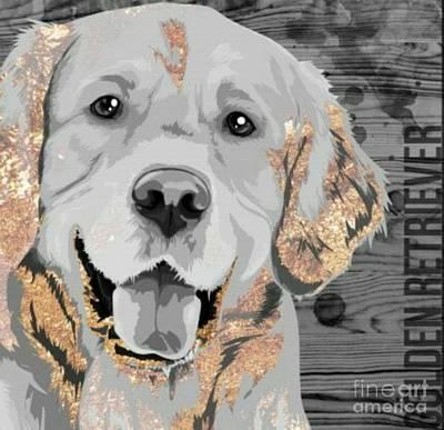 Golden Retriever Mixed Media - Golden Retriever by Blackwater Studio